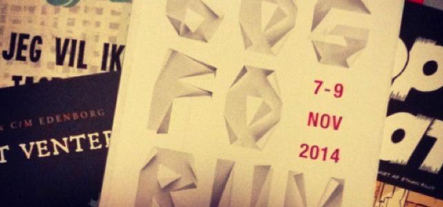 Hov, der er snart Bogforum 2014.